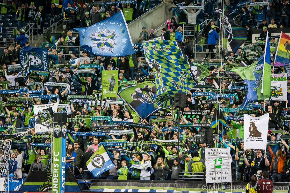 Seattle Sounders Home game fans