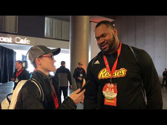 Interview with Demarcus Christmas Florida State DL at Reese's Senior Bowl