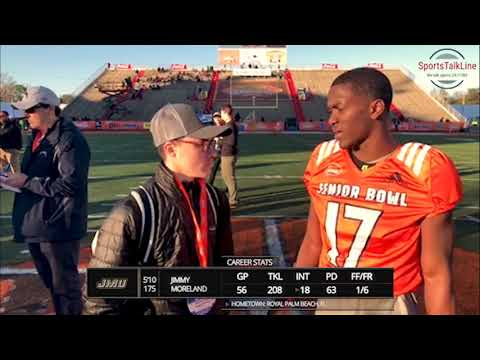 Interview with CB Jimmy Moreland JMU at Reese's Senior Bowl