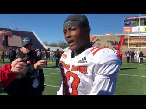 Interview WR Terry McLaurin Ohio State at Reese's Senior Bowl by Connor Livesay