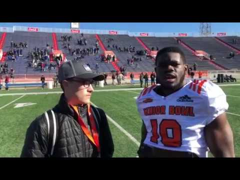 Interview WR Penny Hart Georgia at Reese's Senior Bowl via Connor Livesay