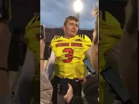 Interview QB Drew Lock Missouri at Reese's Senior Bowl