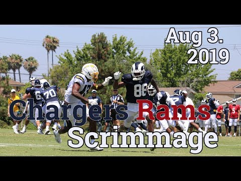 Rams Chargers Scrimmage Highlights 2019 | Aug 3rd