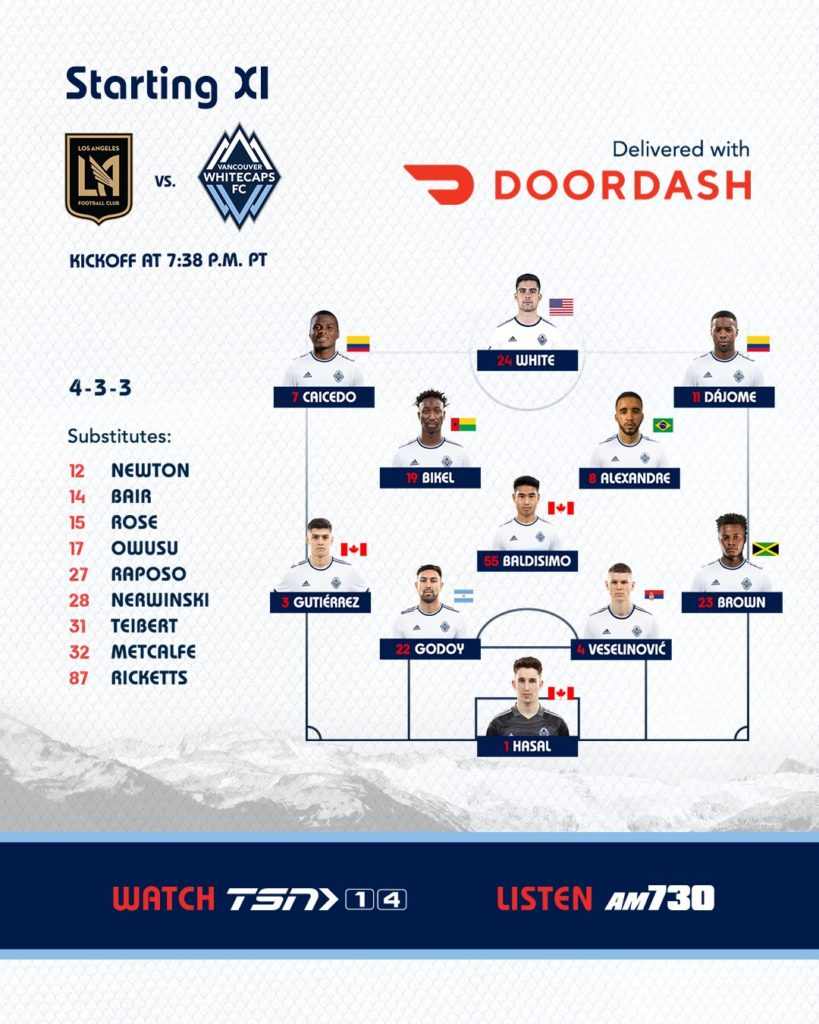 Whitecaps at LAFC Match Preview